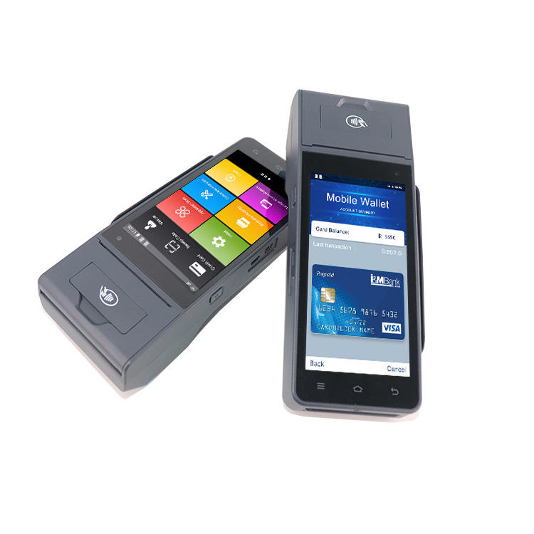 ZCS Z90 PCI EMV Certified Smart Portable Secure Payment Android Mobile POS With Printer GPS WIFI