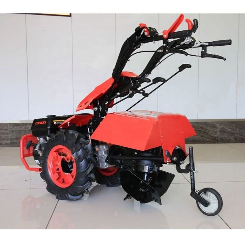 BCS technology two-wheel tractors agricultural machinery equiped with 9.0hp diesel Kama motor with attached swivel rotary plow