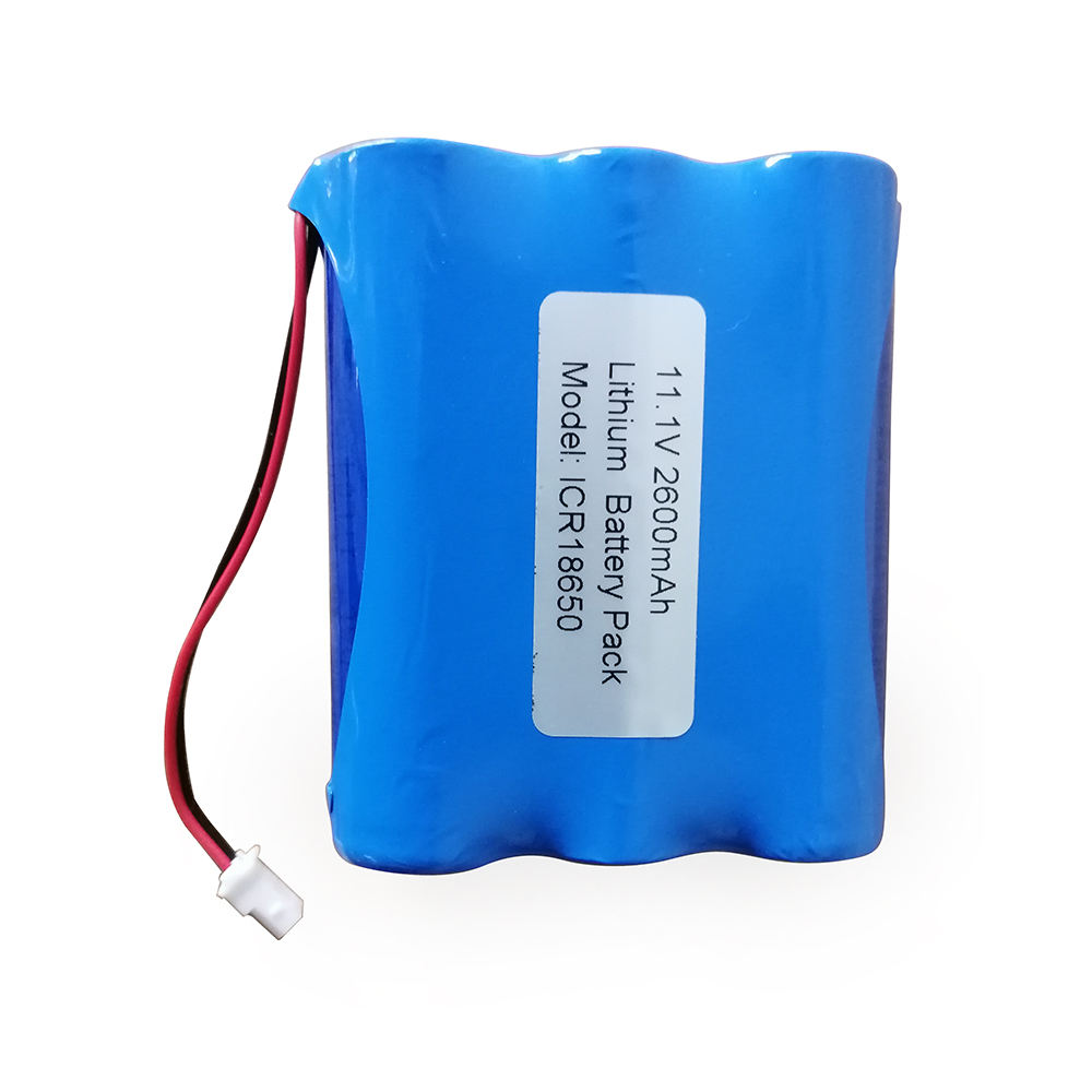 Rechargeable 11.1V 2600mAh 18650 lithium ion battery pack