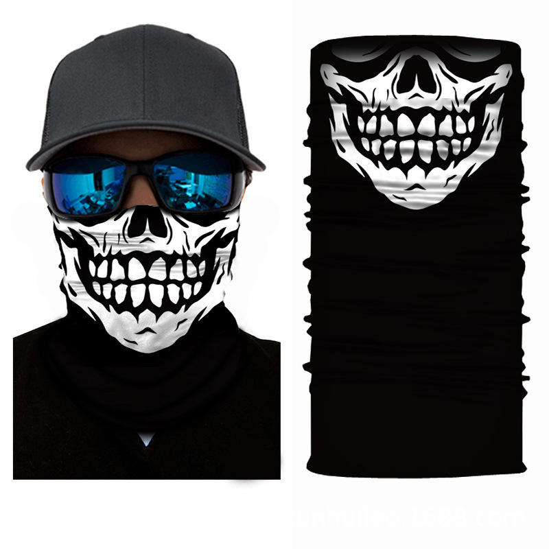 cheap 3D printing sublimation gaiter neck warmer tubulares skull face bandana