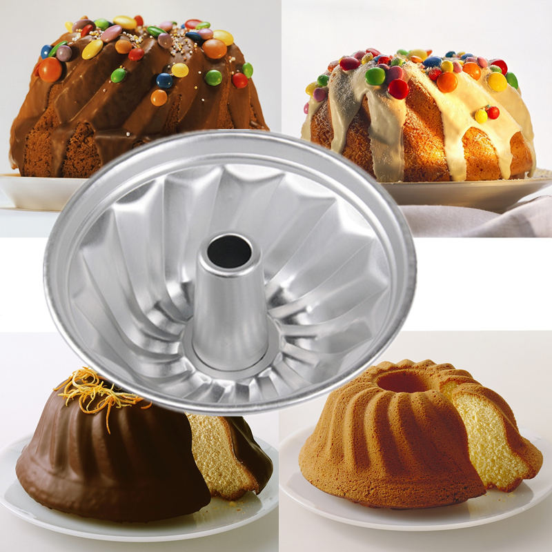8 Inch Bundt Pan Fluted Tube Cake Pan Baking Bundt Mold Gugelhupf Mould Pan