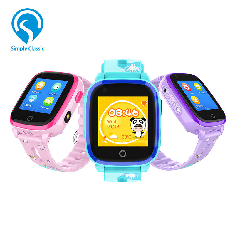 IP67 Waterproof Sport Running Smart Kids 4G GPS Watch Mini for Children Tracking with SOS Button