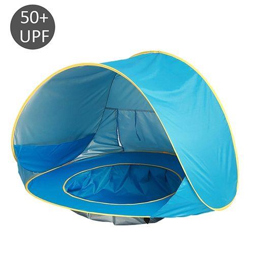 Baby im Freienstrand Zelt Pop up faltbares Zelt mit Strand Pool Sun Schutz
