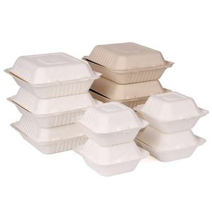 Eco-Friendly biodegradable sugarcane bagasse food container,bamboo pulp food container boxes