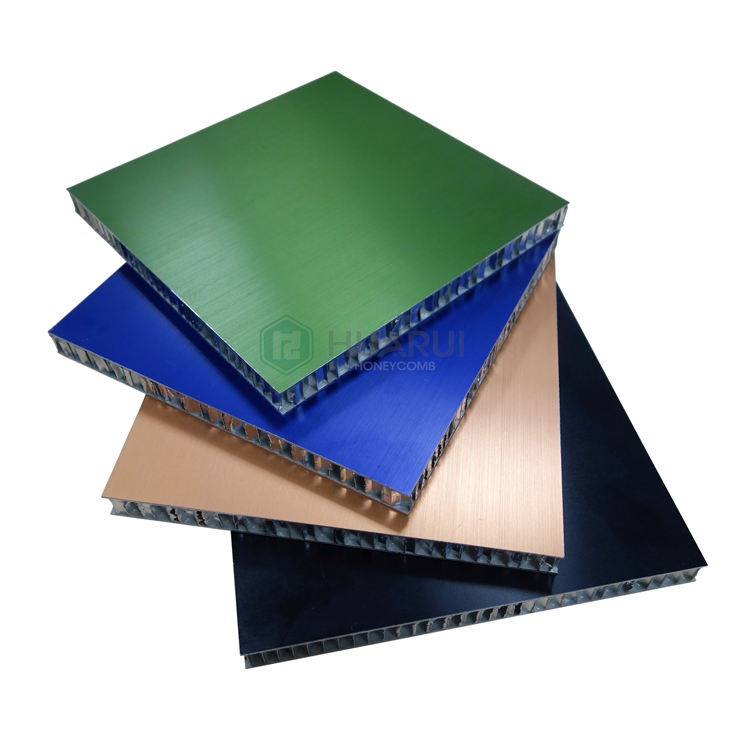 Colorful light weight heat insulation aluminum honeycomb sandwich panel