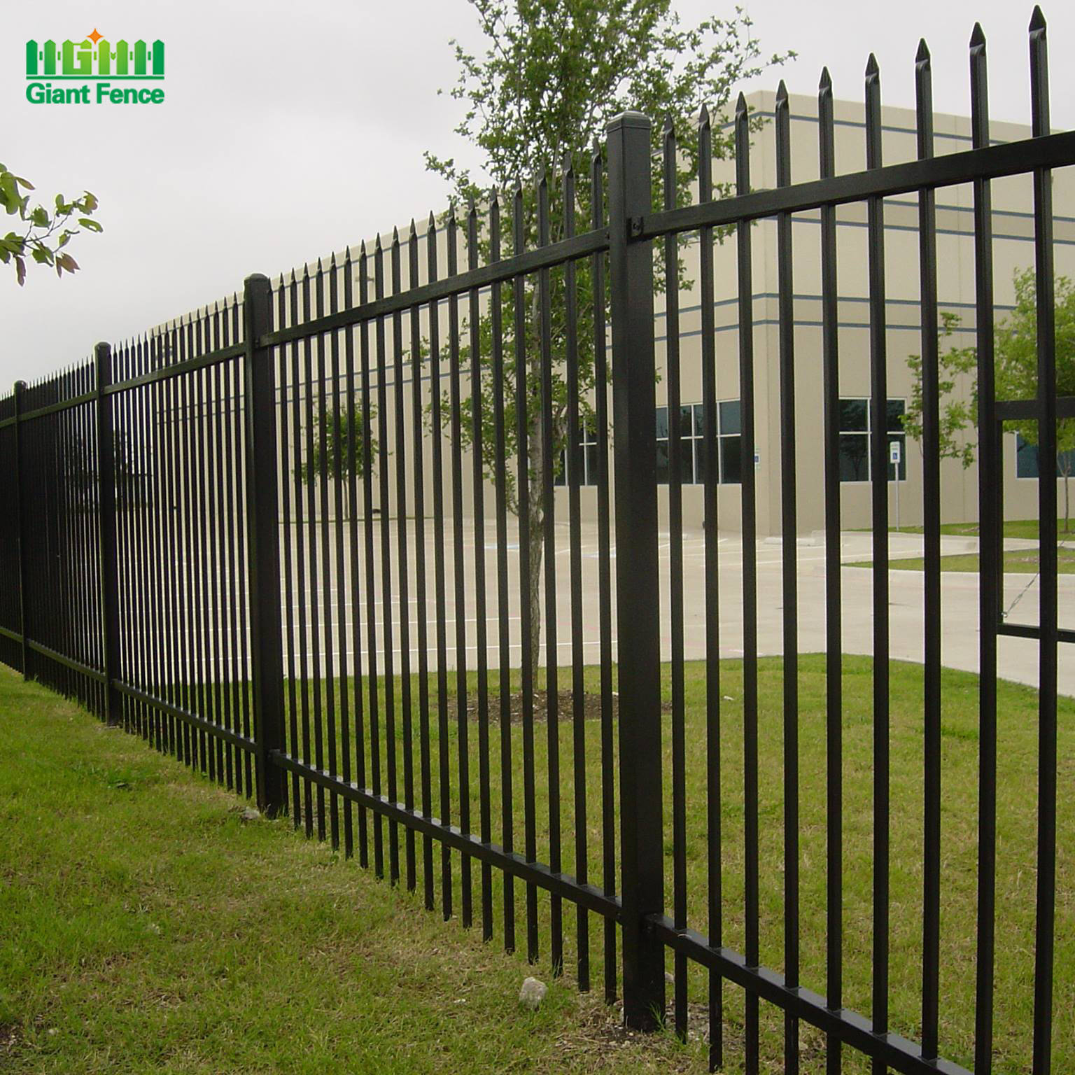 Home Garden Wholesale Modern Steel Metal Used Powder Coated Galvanized Iron Picket Fence