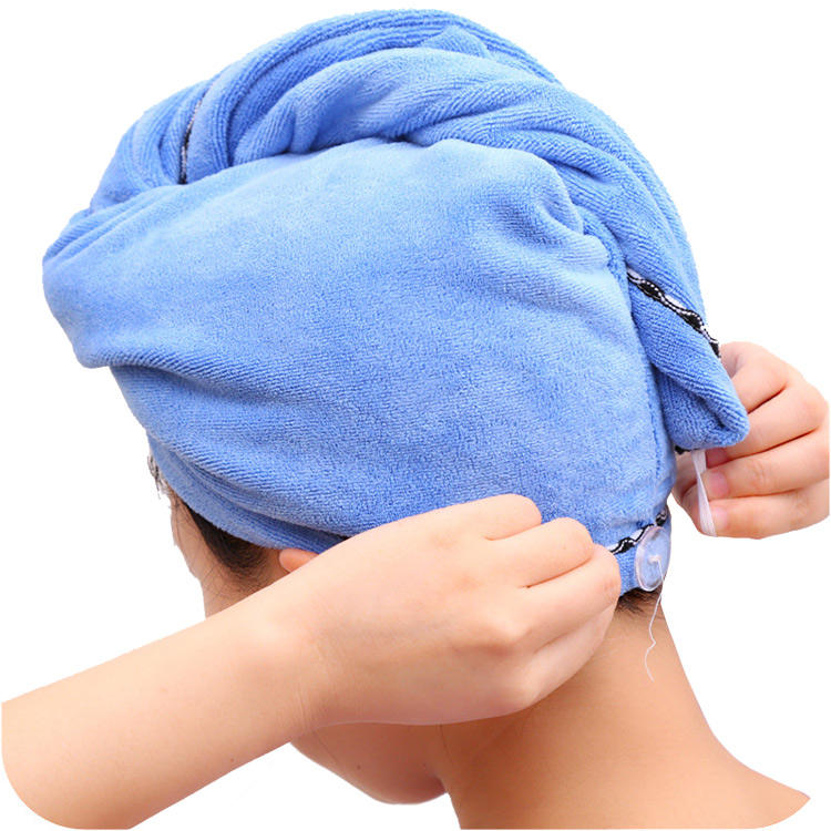 Shower salon head wrap hair drying turban microfiber terry dry hair towel microfiber