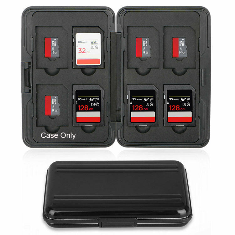 SD Card Waterproof Aluminum Memory Case Holder for Sd Cards