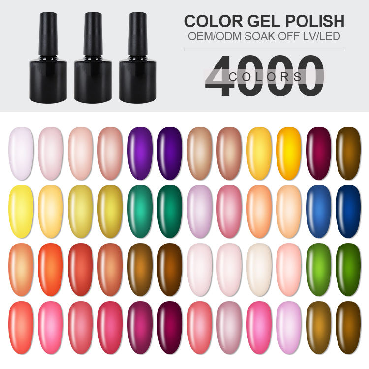 Fashion new arrival 4000 colors three step UV gel type easy apply color orly gel nails polish Professional manufacturer