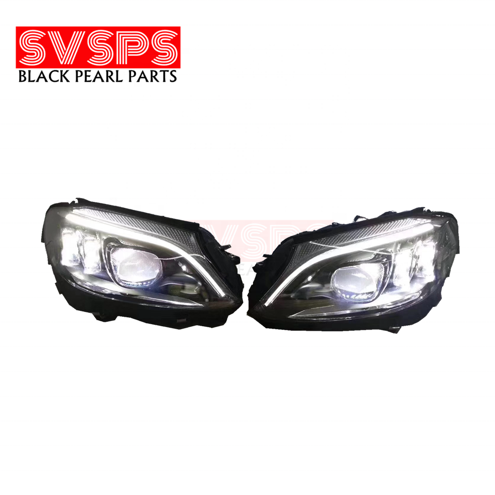 SVSPS HID LED AUTO PARTS TUNING LED FRONT LIGHT HEADLIGTT HEAD LAMP FOR MERCEDES BENZ FOR C CLASS FOR W205 2015-2020 YEAR