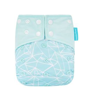 Happyflute 2021 ai2 babyland ecological baby reusable cloth diapers with inserts