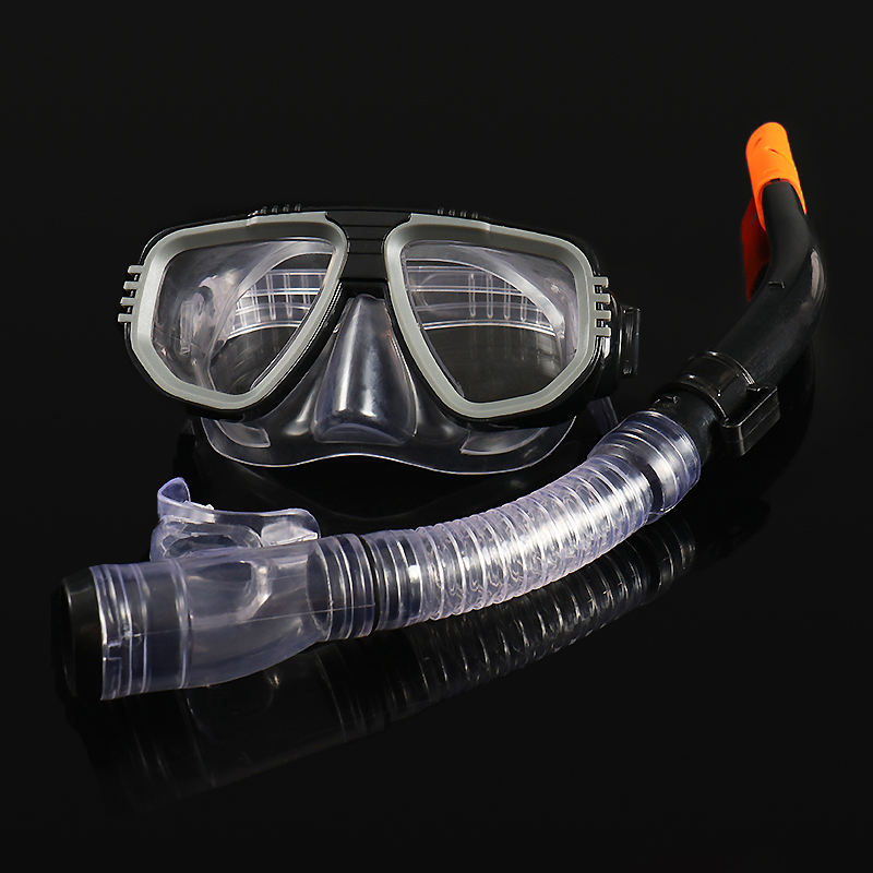 Adult Snorkeling mask Diving Goggles Mask Breathing Tube Shockproof Anti-fog Swimming Glasses Band diving equipment
