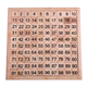 YOBANG montessori Game Wooden Hundred Board Number Chart Number Grid Educational Game for Kids