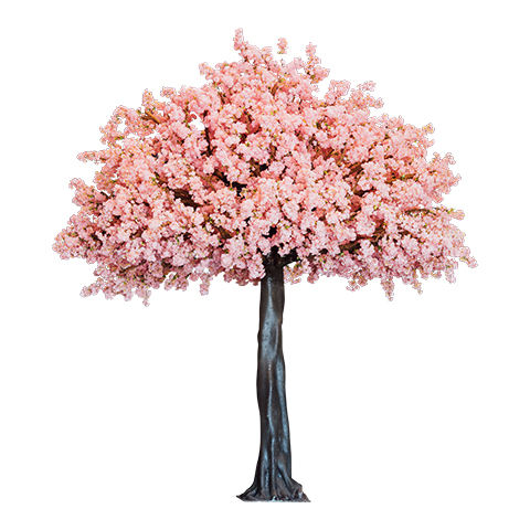 2020 factory direct sale customized shape artificial cherry blossom tree silk flowers for wedding decoration wishing Tree