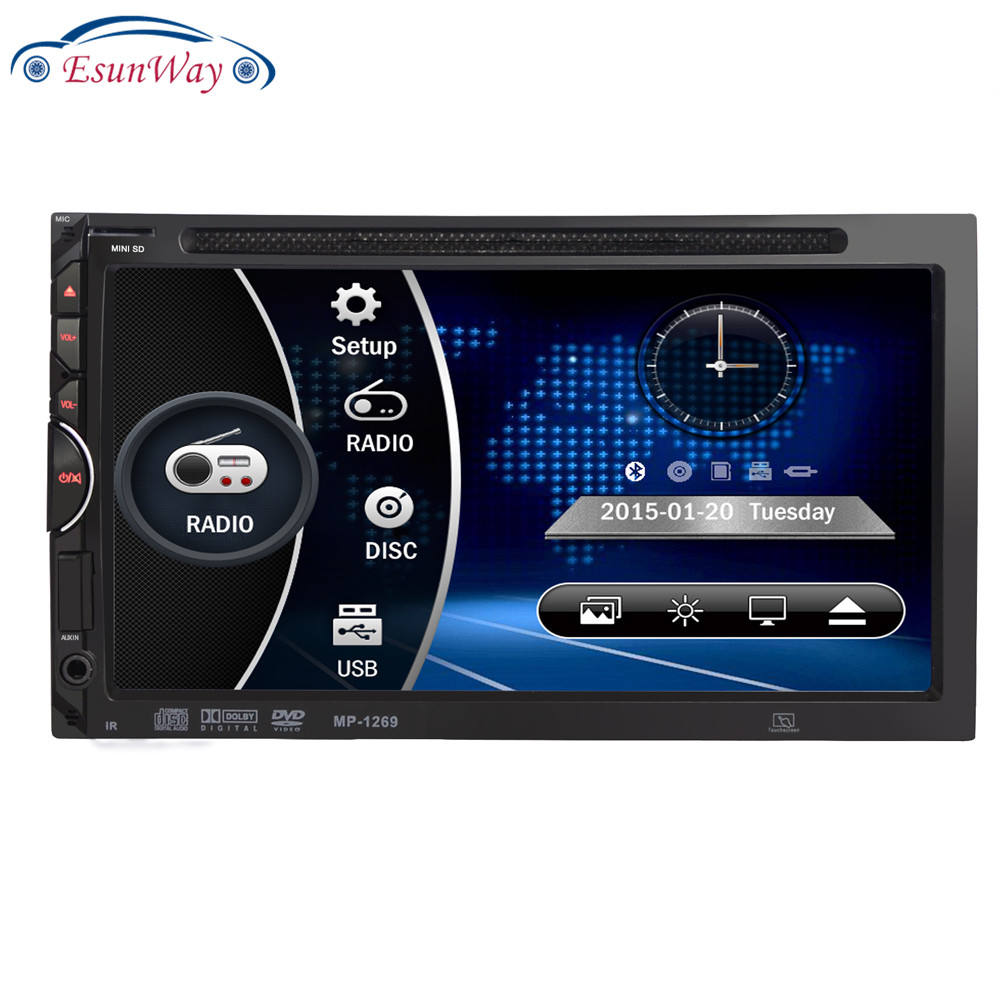 AutoRadio DVD <span class=keywords><strong>Player</strong></span> 7 inch In-dash Stereo Video 2 din DVD/USB/SD/<span class=keywords><strong>MP4</strong></span> <span class=keywords><strong>Player</strong></span> UI RDS Bluetooth FM/AM radio mobil