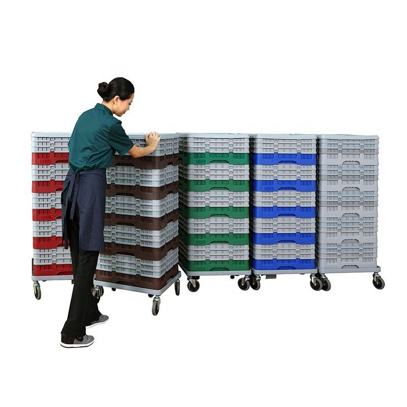 Moveable Plastic Glass Rack for Hotel Storage