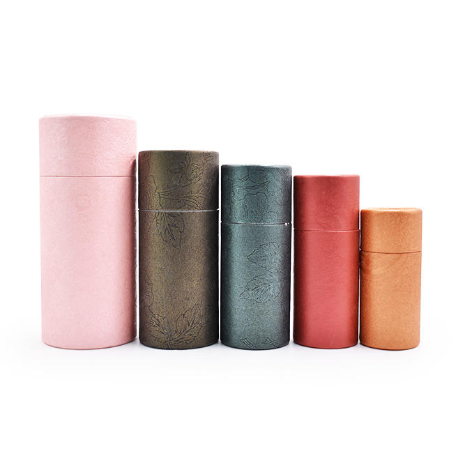 eco friendly food grade paper cylinder packaging box/tube/container for tea packaging
