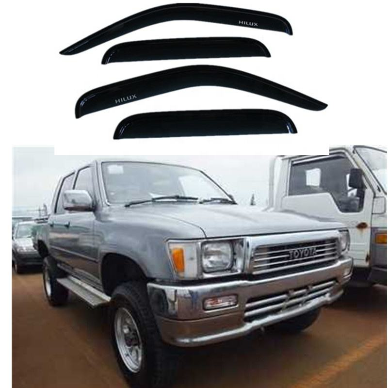 Black Door Visor For Hilux 1990 Weather Shield YCSUNZ Exterior Accessories
