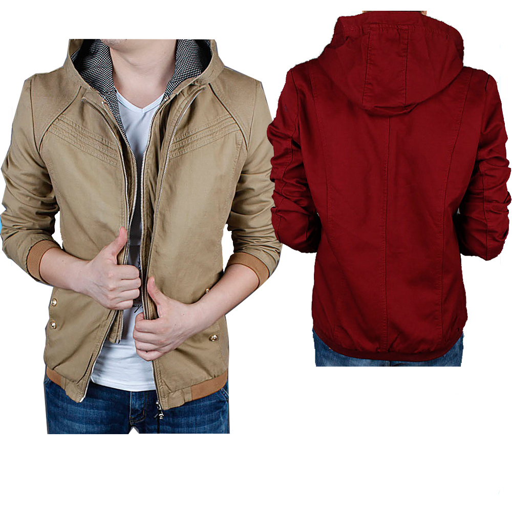Custom 100% cotton men's jacket wholesale spring/autumn jacket for men new fashion men's jackets coats