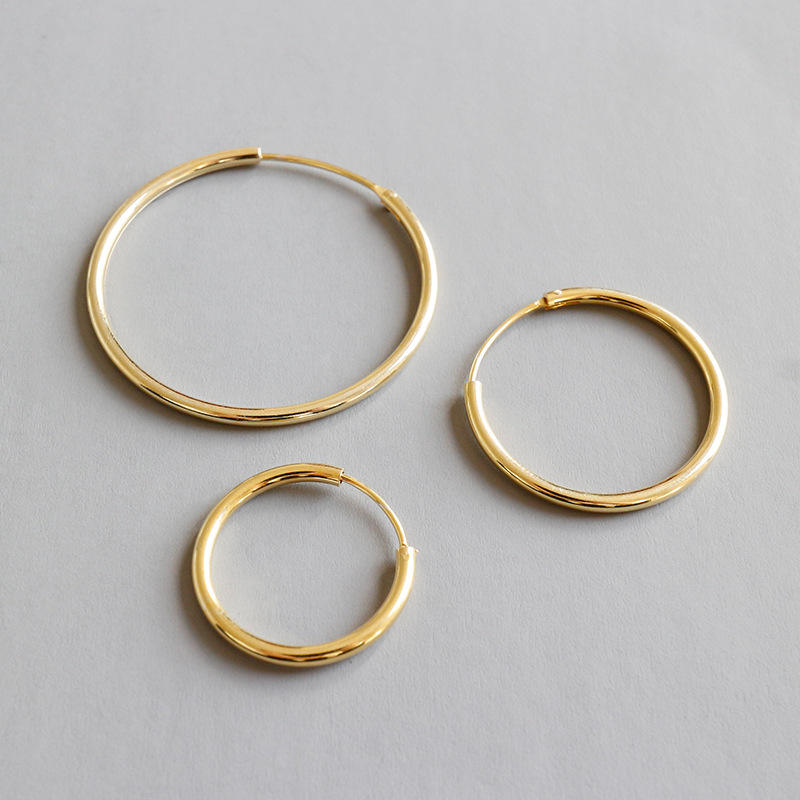 18K Gold plated s925 Sterling Silver Earrings
