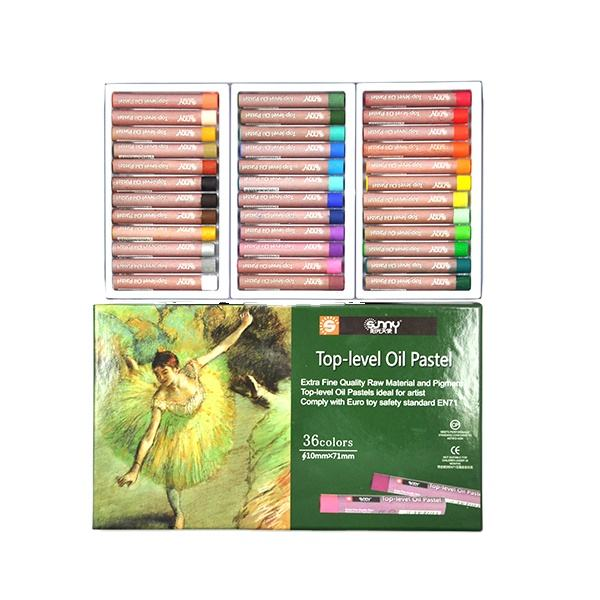 SUNNY 12/24/36 Colors Non-Toxic Crayons Artistic Oil Painting Stick Oil Pastel Drawing color oil pastel
