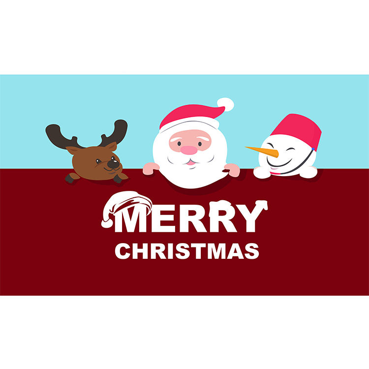 Merry Christmas Design welcome entrance door mats Outdoor coir rug mats