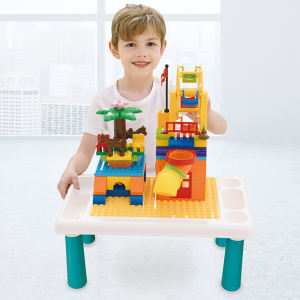 DIY Assemble Educative Smart Toy Baby Mouldking Toys Building Blocks Games Kids Study Table