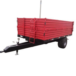 Agricultural equipment hydraulic back dump 5 ton tractor trailer for Europe market