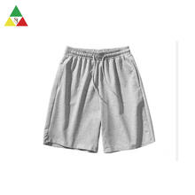 Custom logo 100% cotton terry cloth mens sweat shorts