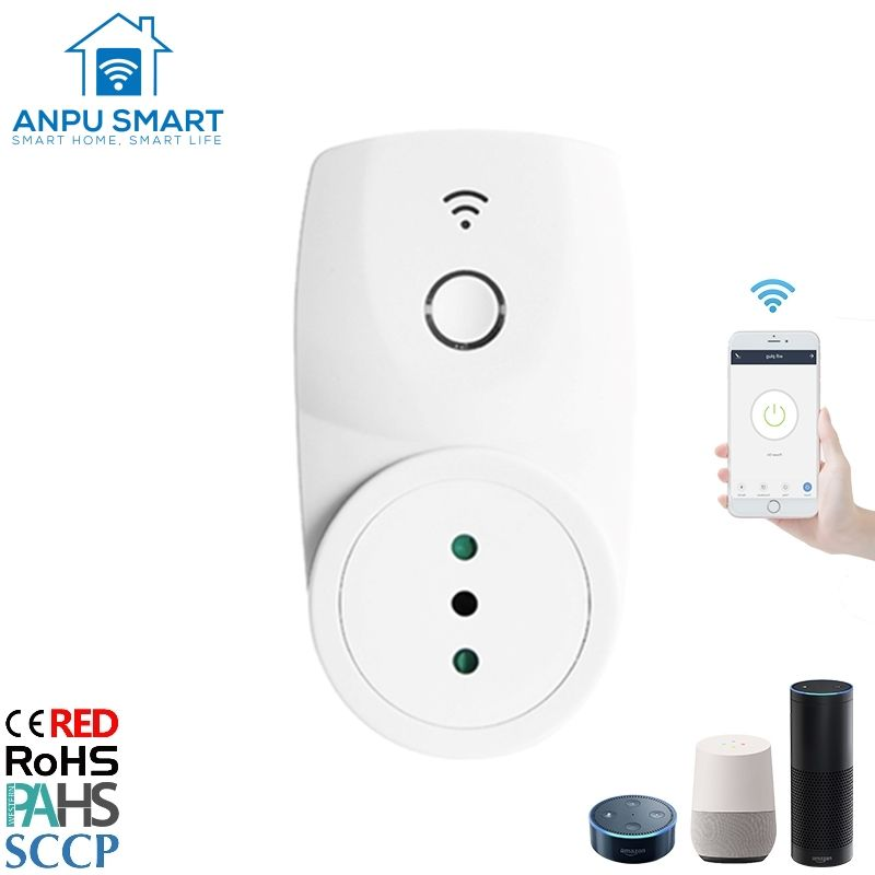 Anpu Italien 2020 Hot Sale Wifi Smart Plug für Smart Home-Geräte Tuya Smart Life App Control mit Ce Rohs