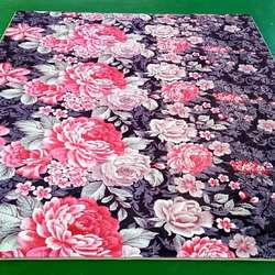 best selling in Malaysia flower design embossed flannel carp