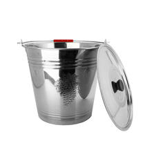 New Arrival 4/5/6/7/8/10/12/14/16L  Metal Buckets Stainless Steel Bucket Metal Water Pail With Hadles