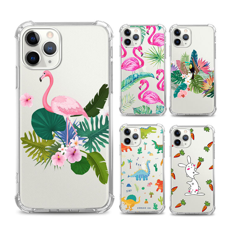 Wholesale Make Your Own Design Summer Flower Avocado Clear Soft Tpu Phone Casing Printing Plain Phone Cases For iPhone 11 Pro 12