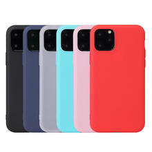 Candy Colored Matte Soft TPU Cell Phone Back Cover Case For New iPhone 11 pro max 2019 bumper case