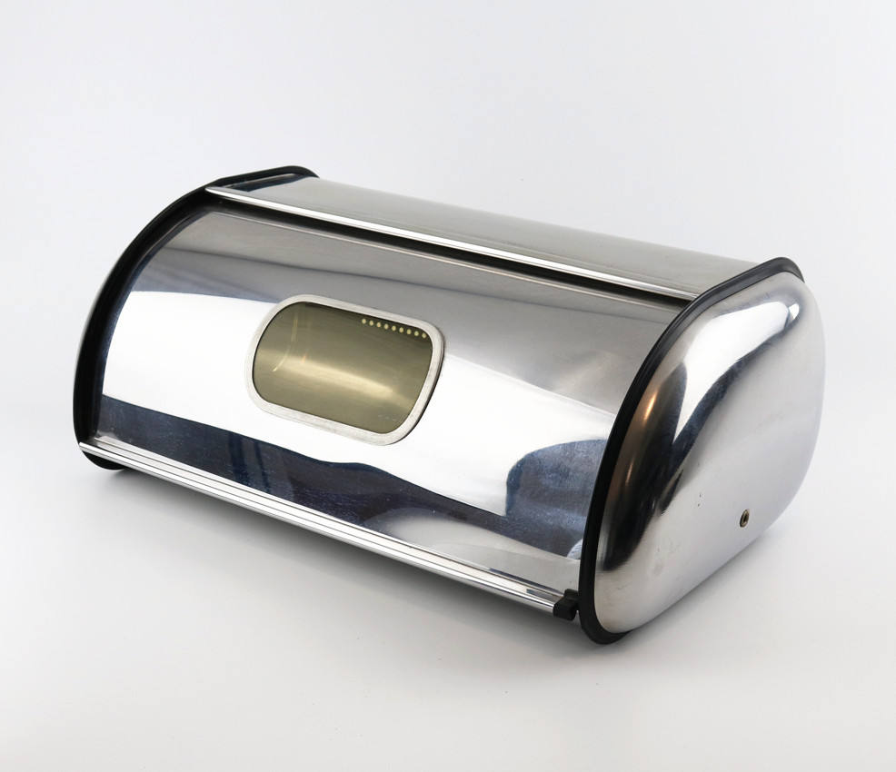 Kitchen High Quality Stainless Steel Bread Bin Food Storage Can Bread Box with Lid