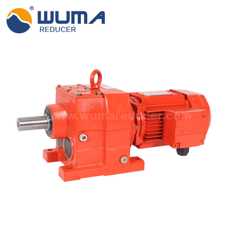 Helical inline gearbox R series gear motor rotary tillers gearbox
