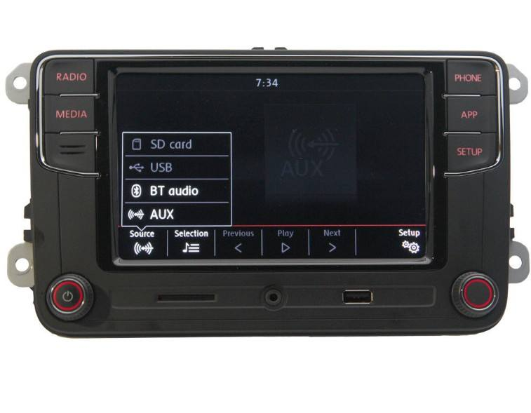 "RCD330 más CarPlay Radio de coche 6,5 ""para VW Golf coche Bluetooth USB estéreo de Radio OEM 187B"