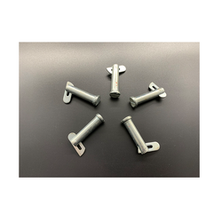 Factory supply attractive price white zinc iron safety custom pins