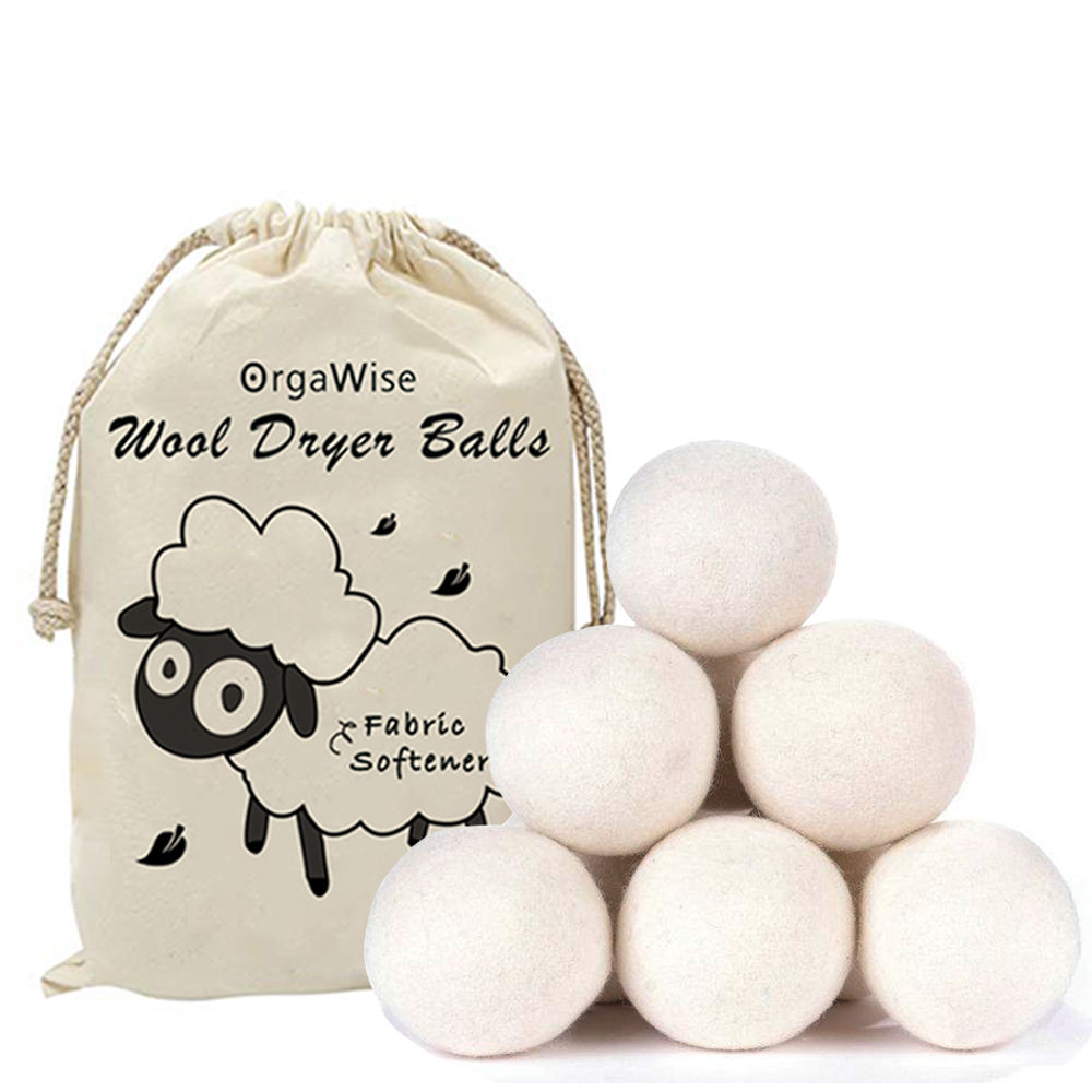Upgrade New Zealand wool Material 7cm 100% Wool Organic Felt Laundry Wool Dryer Ball