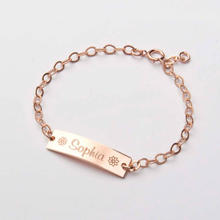 30*5mm Bar Personalized Baby Name Bracelet Stainless SteelToddler Child ID Bracelet Custom Jewelry Girl Boy Birthday Gift