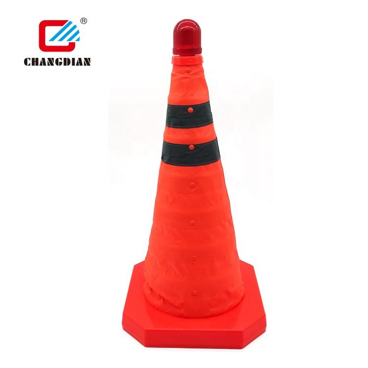 High Quality Durable Reflective Black Base Pvc Traffic Road Cone For Barrier