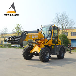 1.5ton telescopic machine long arm loader wheel loader telehandler with pto for farm
