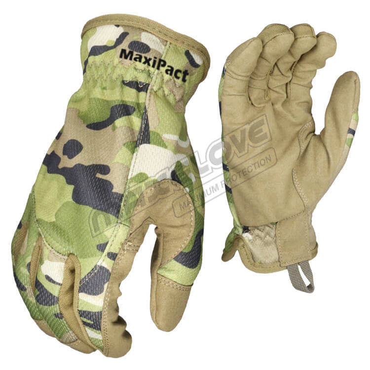 Mechanix impact working gloves with silica gel on fingertips