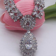 Fashional bling bling zircon bridal wedding jewelry necklace sets NE-214