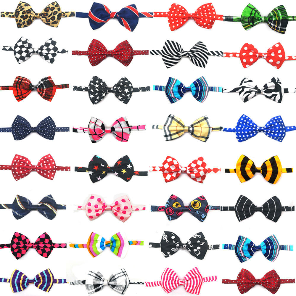 Manufacturer Wholesale Silk Pet Cat Ties For Dog Pets Adjustable Cheap Collar Dog Bow Ties