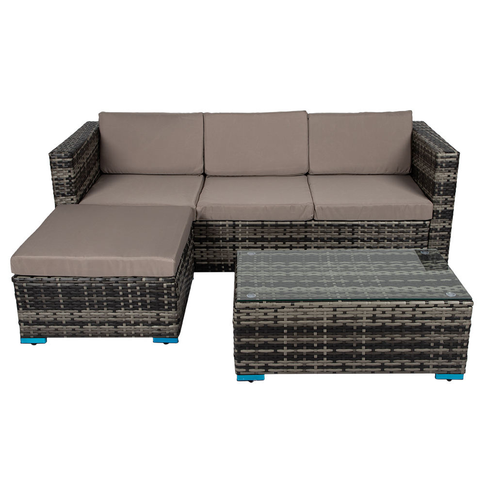 Hot Sell L Shaped Garden Sofa Set Wicker Outdoor Rattan Sofa Set Furniture Rattan Outdoor Garden Sofa