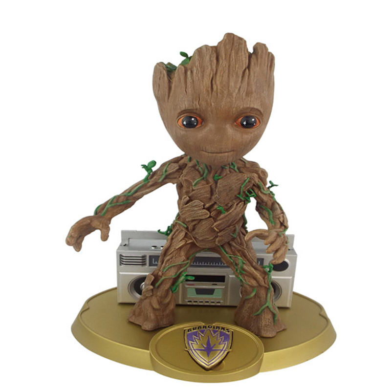 Guardians of The Galaxy Flowerpot Baby Action Figures Cute Model Toy Pen Pot Best Christmas Gifts For Kids Home Decoration Gifts