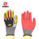 anti skid wear resistant rigger anti cutting oil hardware nitrile working impact tpr gloves