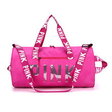 Factory Wholesale Cheapest Duffle Bags Solid Color Sequins Fitness Travel bags For Women   Custom logo design  Gym Bags