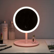 Hot Selling Led Light Smart Plane Mirror led Portable Beauty Desktop Touch Screen Dismountable  Makeup Mirror led